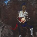 """Kara Walker; Barack Obama as Othello """"The Moor"""" With the Severed Head of Iago in a New and Revised Ending by Kara E. Walker; 2019"""