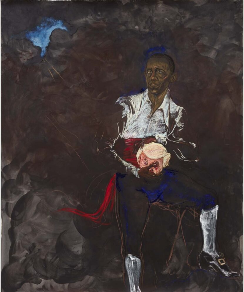 "Kara Walker; Barack Obama as Othello ""The Moor"" With the Severed Head of Iago in a New and Revised Ending by Kara E. Walker; 2019"
